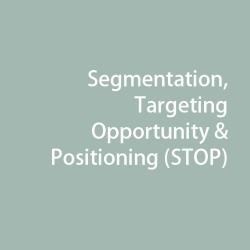 Segmentation, Targeting Opportunity & Positioning (STOP)